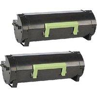 Compatible Multipack Lexmark MS310dn Printer Toner Cartridges (2 Pack) -