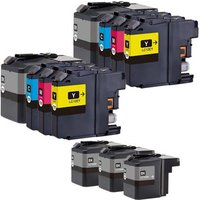 Compatible Multipack Brother LC12E 2 Full Sets + 3 EXTRA Black Ink Cartridges (11 Pack)