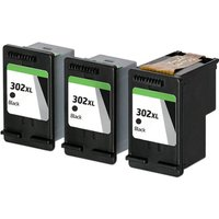 Compatible Black HP 302XL High Capacity Ink Multipack (Replaces 3 x F6U68AE + 1 x Printhead)