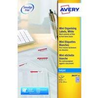 Avery White Mini Labels 17.8x10mm J8659-25 270 p/sht PK6750