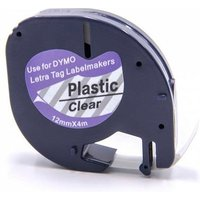 Dymo 12267 (S0721530) Original Label Tape (12mm x 4m) Black on Clear