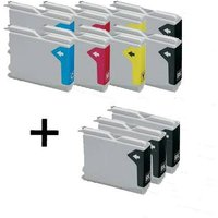 Compatible Multipack Brother MFC-685CW Printer Ink Cartridges (11 Pack) -LC1000BK