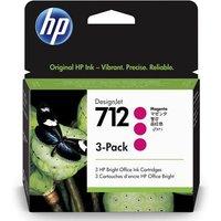 HP 712 (3ED78A) Magenta Original DesignJet Ink Cartridge (3 Pack)