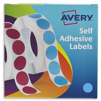 Avery Labels in Disp Round 19mm DIA Blu 24-509 (1120 Labels)