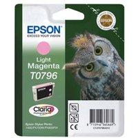 Epson T0796 (T079640) Light Magenta Original Ink Cartridge (Owl)