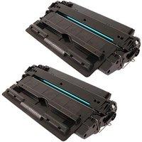 Compatible Multipack HP LaserJet 5200dtn Printer Toner Cartridges (2 Pack) -Q7516A