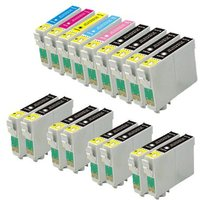Compatible Multipack Epson Stylus Photo R2880 Printer Ink Cartridges (17 Pack) -C13T09634010