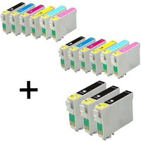 Compatible Multipack Epson Stylus Photo R1400 Printer Ink Cartridges (15 Pack) -C13T07914010