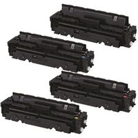 Compatible Multipack Canon 054BK/C/M/Y Full Set Standard Capacity Toner Cartridges (4 Pack)