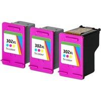 Compatible Tri-Colour HP 302XL High Capacity Ink Multipack (Replaces 3 x F6U67AE + 1 x Printhead)