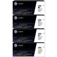 1 Full Set 659A (W2010A) Black and 1 Colour Set 659A (W2011A/12/13A ) C/M/Y Original Standard Capacity Toner Cartridge (4 Pack)