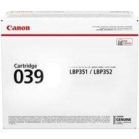 Canon 039 (0287C001) Black Original Standard Capacity Toner Cartridge