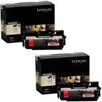 Lexmark 0064036SE Black Original Toners Twin Pack (2 Pack)