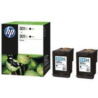 HP 301XL (D8J45AE) Black Original Ink Cartridge- Twin Pack