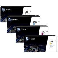 1 Full Set 658X (W2000X) Black and 1 Colour Set 658X (W2001X/02/03X ) C/M/Y Original High Capacity Toner Cartridge (4 Pack)