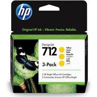 HP 712 (3ED79A) Yellow Original DesignJet Ink Cartridge (3 Pack)