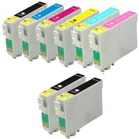 Compatible Multipack Epson Stylus Photo PX820FWD Printer Ink Cartridges (8 Pack) -C13T08014011