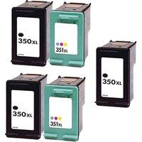 Compatible Multipack HP Photosmart D5345 Printer Ink Cartridges (5 Pack) -CB336EE