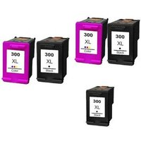 Compatible Multipack HP DeskJet D5663 Printer Ink Cartridges (5 Pack) -CC641EE