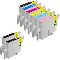 Compatible Multipack Epson T0331/6 Full Set + 2 EXTRA Black Ink Cartridges (8 Pack)