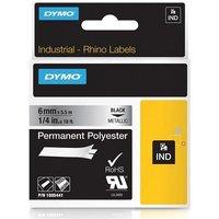 Dymo 1805441 Original Label Tape (6mm x 5.5m) Black On Metallic