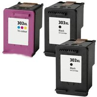Compatible Multipack HP 303XL Set + 1 EXTRA Black Ink Cartridges (3 Pack)