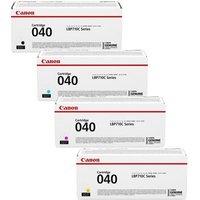 Canon 040BK/Y Full Set Original Standard Capacity Toners (4 Pack)
