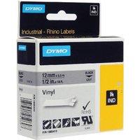 Dymo 1805413 Original Label Tape (12mm x 5.5m) Black On Grey