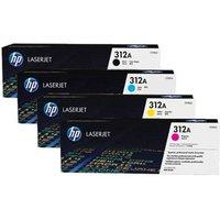 Original Multipack HP Colour LaserJet Pro MFP M476nw Printer Toner Cartridges (4 Pack) -CF380A