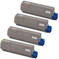 Compatible Multipack OKI MC363dnw Printer Toner Cartridges (4 Pack) -46508712