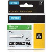 Dymo 1805414 Original Label Tape (12mmx5.5m) White On Green