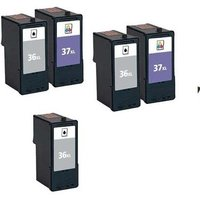 Compatible Multipack Lexmark X6675 Printer Ink Cartridges (5 Pack) -18C2170E