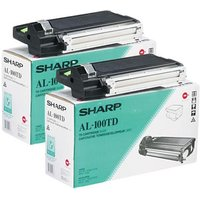 Original Multipack Sharp AL-1000 Printer Toner Cartridges (2 Pack) -AL-100TD