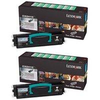 Lexmark 0E352H11E Black Original Toners Twin Pack (2 Pack)