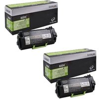 Original Multipack Lexmark MX710dhe Printer Toner Cartridges (2 Pack) -62D2H0E