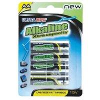 White Box Alkaline Batteries AA [Pack of 4]