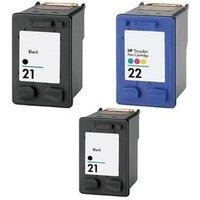 Compatible Multipack HP DeskJet D1560 Printer Ink Cartridges (3 Pack) -C9351AE