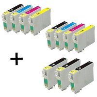 Compatible Multipack Epson T0321/T0424 2 Full Sets + 3 EXTRA Black Ink Cartridges (11 Pack)