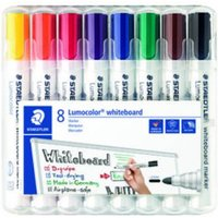 Staedtler Whiteboard Marker Assorted Bullet Tip PK8