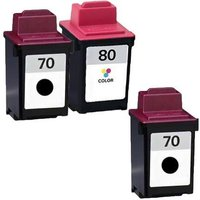 Compatible Multipack Lexmark Colour Jetprinter 7200V Printer Ink Cartridges (3 Pack) -12A1970E