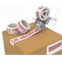 Value Fragile Printed Tape 48mmx66m Red/White PK6