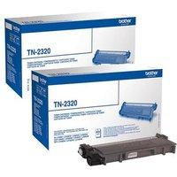 Original Multipack Brother MFC-L2740CW Printer Toner Cartridges (2 Pack) -TN2320