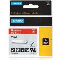 Dymo 1805416 Original Label Tape (12mmx5.5m) White On Red