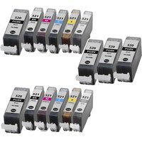 Compatible Multipack Canon Pixma MP980 Printer Ink Cartridges (15 Pack) -2932B001