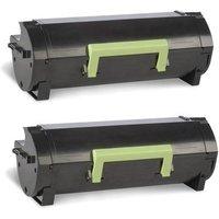 Compatible Twin Pack Lexmark 63B2H00 Black High Capacity Toner Cartridges (2 Pack)