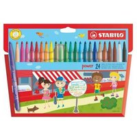 Stabilo Power Extra Long Lasting Felt Pens PK24