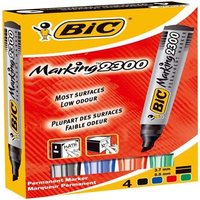 Bic Marking 2300 Chisel Tip Permanent Marker Assorted PK4