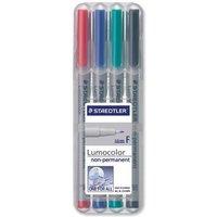 Staedtler Lumocolour 316 (0.6mm) Non-Permanent Universal Pen (Assorted) 1 x Wallet of 4