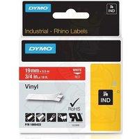 Dymo 1805422 Original Label Tape (12mmx5.5m) White On Red