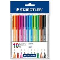 Staedtler Rainbow Ballpoint Pens Multicolour 0.5mm Line PK10